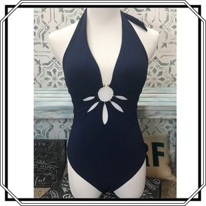 Robin Piccone Navy One Piece Swimsuit Size 4